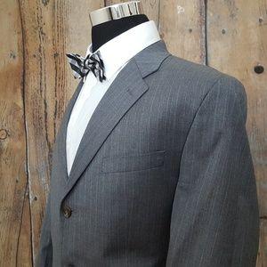 Lauren Ralph Lauren Sport Coat Men 42L Gray Stripe